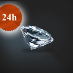 Diament 0,42 ct / H / VS1