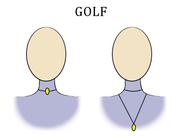 Naszyjnik do dekoltu golf
