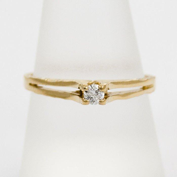 d5150849c6ed61 Złoty pierścionek z diamentem P1536 | Biżuteria \ Pierścionki ...